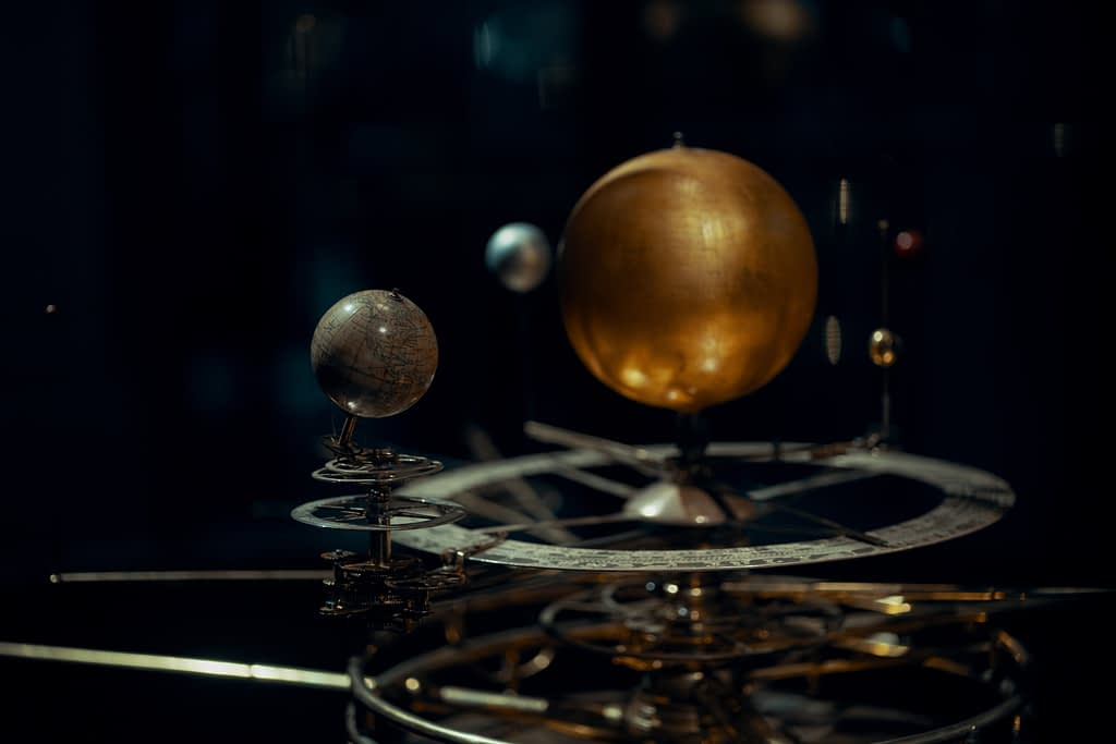 An orrery - model of the solar system