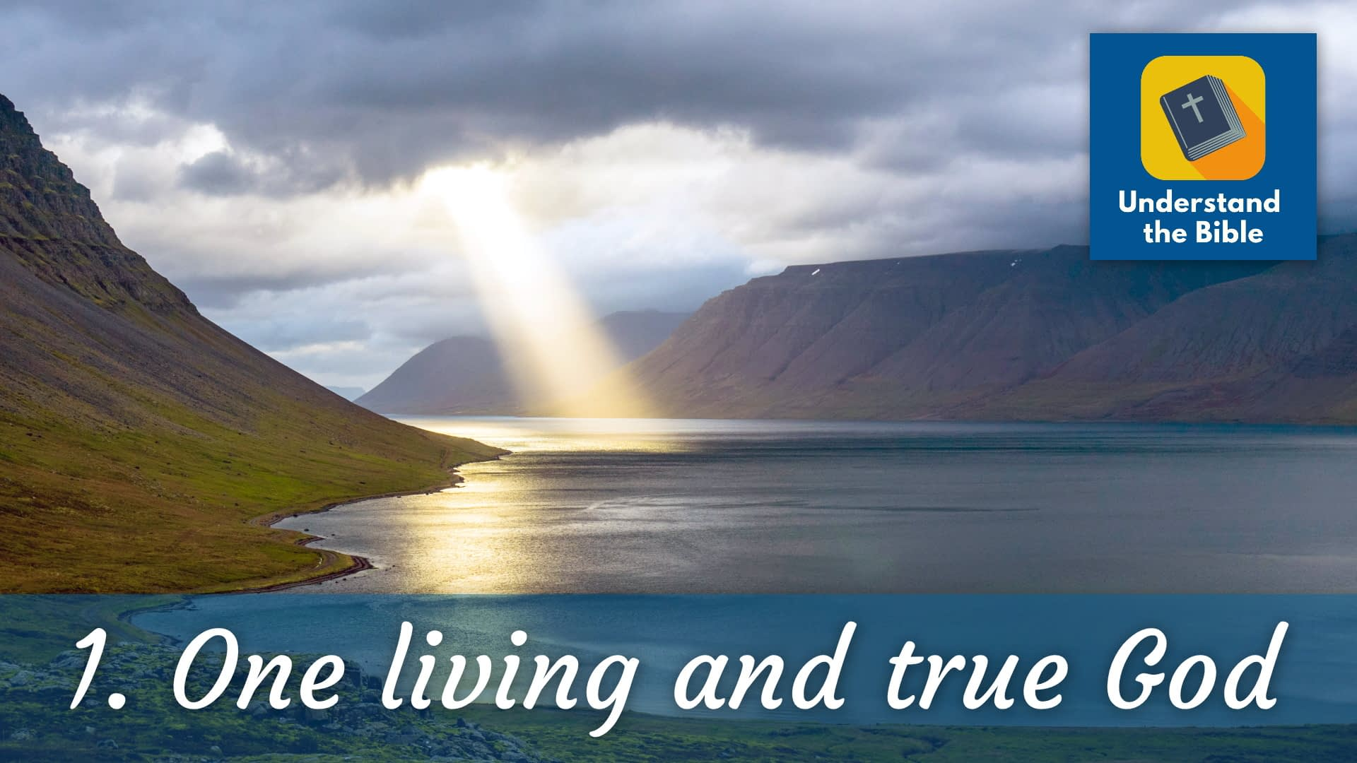There is one living and true God
