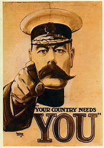 """""""Your Country Needs You"""" Poster"""